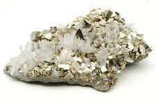 Pyrite Quartz Huaron Mine Pérou / Peru 9x6.5x2cm 144gr