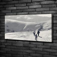 Leinwandbild Kunst-Druck 140x70 Bilder Menschen Skifahrer
