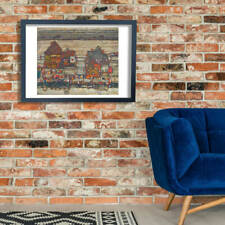 Egon Schiele - Red and Yellow City Wall Art Poster Print