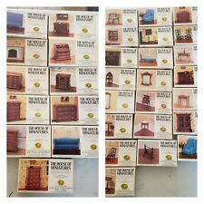 Lot Of 33 Vintage Xacto The House Of Miniatures Dollhouse Furniture Kits