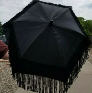 Decorated Nylon Parasol with Painted Wood Handle Your Choice!