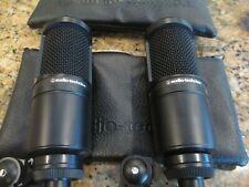 2X - Audio-Technica AT2020 Cardioid Condenser Studio XLR Microphones - MINT