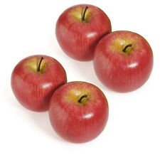 4Pcs Artificial Red Apples Decorative Large Simulated Red Apple Plastic Fruits
