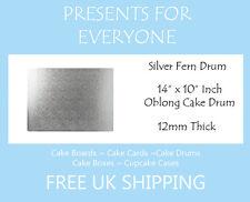 "1 x 14"" x 10"" Inch Oblong Rectangular Wedding Birthday Cake Drum / Board 12mm"