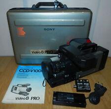 Sony CCD-V100E Video 8 Pro Camcorder Kamera + Zubehörpaket 8mm Video Kassette