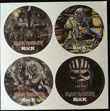 More details for very rare iron maiden/ trooper/ classic rock beer mats/ coasters set of 4 @mint!