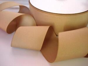 10 yard Solid Grosgrain 2 inch Wide Ribbon/50mm/Craft Supply/Beige GR20-20 Khaki