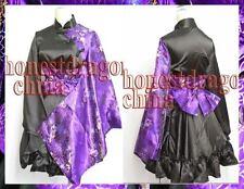 Gothic Lolita Kimono Dress Cosplay Costume Mum Purple Kimono