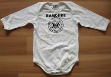 AMPLIFIED Official THE RAMONES Merchandise Hey Ho Let's Go Strampler Shirt 56/62