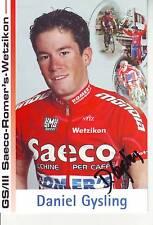 CYCLISME carte cycliste DANIEL GYSLING  équipe SAECO 2005 signée