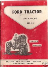 Ford 701 & 901 Tractor Operator's Manual