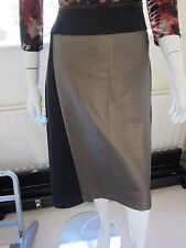 Ladies M&S collection Straight Black Skirt With Gold Panel Size 20 BNWT RRP £35