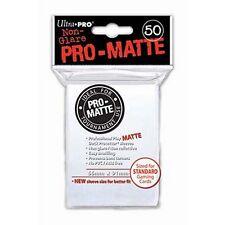 50 PRO MATTE DECK PROTECTORS White Bianco MTG MAGIC Ultra Pro