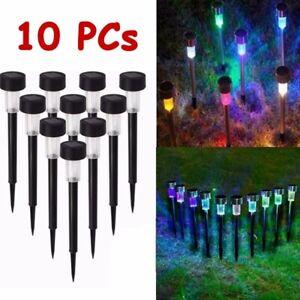 10PC LED Solar Lawn Lights Garden Waterproof Light Landscape Pathway Lamp