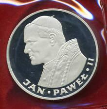 "1982 POLAND SILVER COIN 100 ZLOTYCH  ""POPE JOHN PAUL II "" - COA - PROOF"