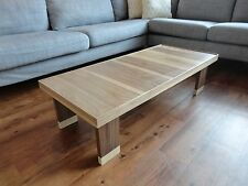 Handmade Coffee Table: Solid Wood Walnut & Maple. Contemporary Style.