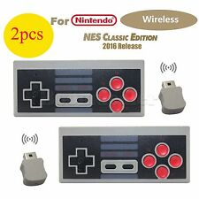 2X Wireless Senza Fili Controllore Gamepad Per Nintendo NES Mini Classic Edition