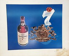 1960s SEAGRAMS BLENDED WISKEY DYE TRANSFER ADVERTISING 19X23 PHOTOGRAPH MATTED