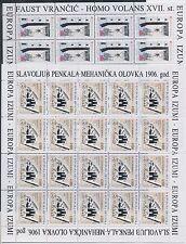 1994 Europa Croatia 2 Mini-Sheets' Europa and the Discoveries' MNH