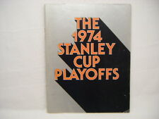 1974 Stanley Cup Playoffs Flyers Rangers Program Book H11
