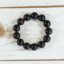 Genuine Baltic Amber Bracelet Unique Dark Cognac Cherry Beaded Balls Luxury