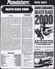 DEATH RACE 2000 Original Australian Movie Press Sheet Sylvester Stallone