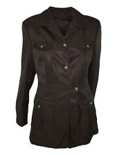 seventy trench sahariana donna marrone misto lino taglia it 44 l large