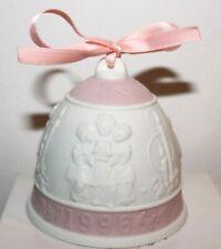 Lladro 1996 Matte Christmas Bell Ornament #16297