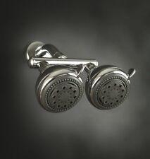 Neptune Dual Shower Heads-Chrome, New, Free Shipping