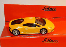 MICRO METAL DIE CAST SCHUCO 3 INCHES 1/64 LAMBORGHINI HURACAN JAUNE IN BOX
