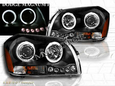 05-07 DODGE MAGNUM CCFL TWIN HALO PROJECTOR HEADLIGHTS BLACK W/ LED