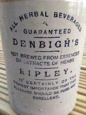 Denbighs Ripley Herbal Beverages stoneware advertising  flagon