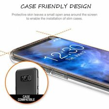 3D Panzerfolie für Samsung Galaxy S8 Displayschutz Glasfolie Schwarz