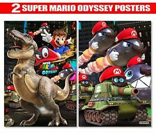 SUPER MARIO BROS ODYSSEY Posters | Two 7.5x11inch -W/ FoamBoard & Lamination