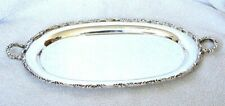 Vintage Handmade 11 5/8 Inch Pure Sterling Silver Platter Tray 12.2 Ounces As135