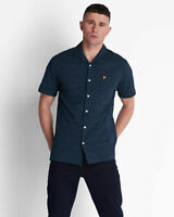 Lyle and Scott Mens Short Sleeve Check Seersucker Resort Shirt - Cotton
