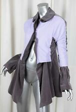 COMME DES GARCONS Womens Gray Velvet+Purple Nylon Blazer Jacket Coat S NEW