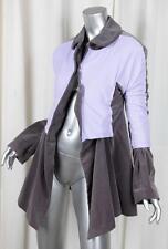 COMME DES GARCONS Womens Gray Velvet+Purple Nylon Blazer Jacket Coat S NEW