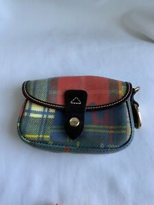 Dooney & Bourke Plaid Small  Clutch Pouch Makeup Bag, preowned