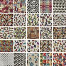 Tapestry New World Fabric Llama Floral Dog Fish Elephants Upholstery Curtain