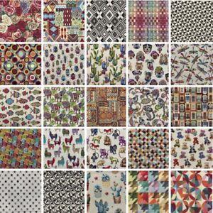 Tapestry Luxury Fabric Llama Floral Dog Fish Elephant Upholstery Curtain Cushion
