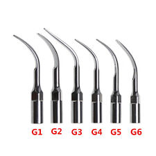 6 Dental INSERTI / PUNTE PER ABLATORE EMS/WOODPECKER scaler tips G1 G2 G3 G4 5 6