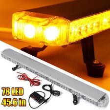 """45.6"""" 78 LED Strobe Light Bar Amber Emergency Beacon Warn Tow Truck Response 12V"""