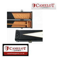SNOOKER/POOL 3/4 CUE CASE.BLACK/WHITE ARROWS. FREE 1-2 DAY DELIVERY