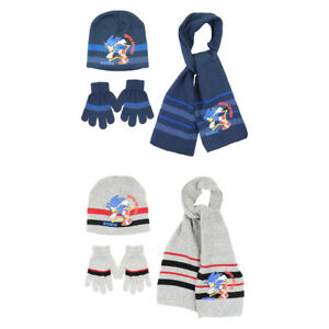 Sonic the Hedgehog Winter Woolly Hat Scarf & Gloves Set 3 to 6 Years