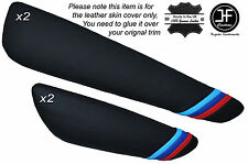 M STRIPES 4X DOOR ARMREST PAD SKIN COVERS FITS BMW E46 CONVERTIBLE & COUPE 98-05