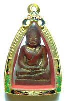 THAI BUDDHA AMULET RARE PHRA OLD ANTIQUE CLAY  SOMDEJ TOH WAT PHRA KAEW