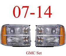 07 13 GMC Head Light Set, Complete Assemblies, Truck, Denali, 1500, 2500, 3500
