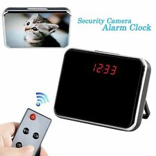 Motion Detection Spy Camera Hidden Video Recorder Alarm Clock Nanny Cam DVR