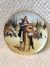 """""""Pine Leaf"""" Noble American Indian Women by David Wright Hamilton Plate"""
